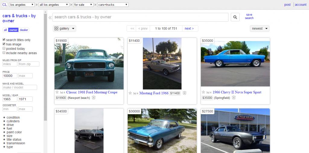 Finden Sie ein Auto im Internet und 23classics hilft Ihnen, es zu untersuchen. Craigslist, eBay, wir unterstützen die meisten Websites.